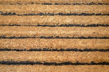 1 x Premium Fußmatte aus Gummi und Kokosfasern, 76 x 46 cm | ✓ 3,5 kg Fußabtreter verhindert verrutschen ✓ Robuste & repräsentative Schmutzfangmatte, Sauberlaufmatte, Schmutzmatte ✓ Fußabstreifer für Eingangsbereich von Haus und Wohnung -