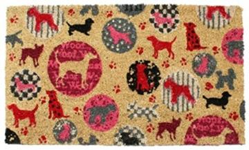 1art1 75984 Hunde - Retro Style Fußmatte Türmatte 70 x 40 cm -