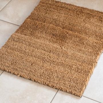 50 x 80 cm Kokosmatte 24mm Fußmatte Türmatte Natur Fußabtreter, aus natürlichem Kokos für Innen- und Aussenbereich -
