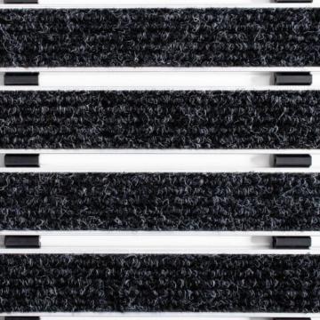 Alu Fußmatte Elegant Mat - 2 Größen - 49x80cm, anthrazit -