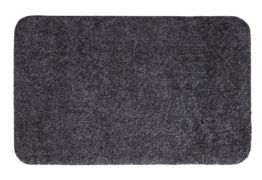 Andiamo 700607 Schmutzfangmatte Samson, 50 x 80 cm, uni, Baumwolle, Waschbar bei 30 Grad Celsius, anthrazit -