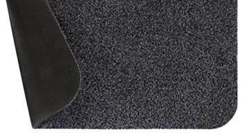 Andiamo 700612 Schmutzfangmatte Samson, Baumwolle, Waschbar bei 30 Grad celsius, 60 x 100 cm, uni / anthrazit -