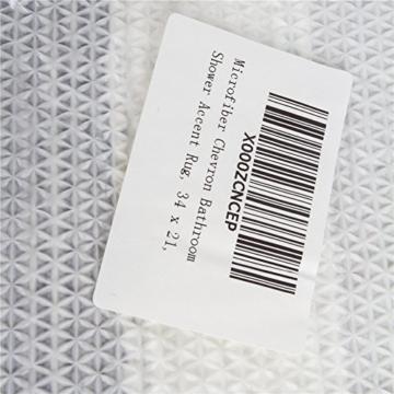Anti-Rutsch-Badteppich weichen, saugfähigen Baumwolle Badvorleger maschinenwaschbar Teppich, Hochwertige Fußmatte/Schmutzfangmatte/Badvorleger/Duschvorleger 86 x 53 cm -