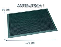 Antirutsch - Fussboden Gummifinger Abtreter Fussabtreter Gummimatte Fußmatte genoppt 60 x 100 cm -