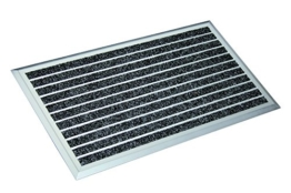 ASTRA 1880030040 Exclusiv Anthrazit Aluminium Fußmatte, 75 x 45 x 1,3 cm -