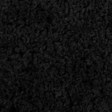 Badematte aus weichem & kuscheligem Hochflor | Öko-Tex zertifiziert | schwarz | 60x100cm -
