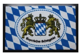 Bayern Fußmatte Bayerisches Schutzgebiet 40 x 60 cm Fussmatte wash & clean -