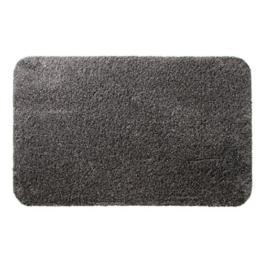 casa pura® Eingangsmatte aus 100% Baumwolle | hohe Schmutz- und Feuchtigkeitsaufnahme | dunkelgrau - meliert | 50x80cm -