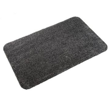 casa pura® Eingangsmatte aus 100% Baumwolle   hohe Schmutz- und Feuchtigkeitsaufnahme   dunkelgrau - meliert   50x80cm -