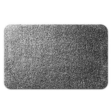 casa pura® Eingangsmatte aus 100% Baumwolle | hohe Schmutz- und Feuchtigkeitsaufnahme | grau - meliert | 60x100cm -
