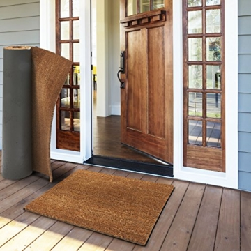casa pura® Kokosmatte Meterware | auch für großflächige Eingangsbereiche | natur | viele Höhen und Größen (30mm, 50x80cm) -