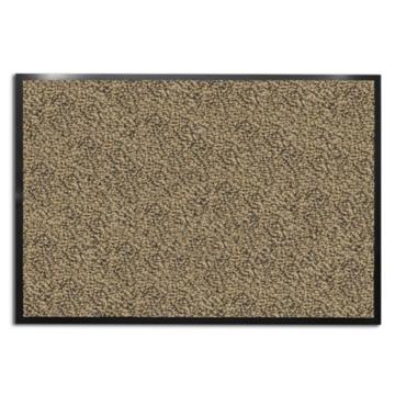 casa pura® Premium Fußmatte für Eingangsbereiche | Schmutzfangmatte in 6 Größen | beige - meliert | 90x150cm -