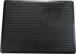 Doortex FR490150FBM Anti-Ermüdungsmatte, 100% Gummi, schwarz, 90 x 150 x 0,140 cm -