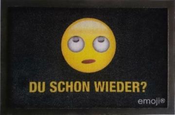 Emoji - Du schon wieder? - Fußmatte - Größe 60x40 cm - Material Polypropylen -