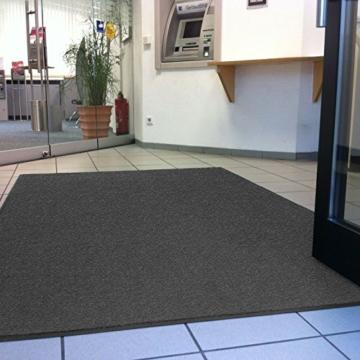 etm® Schmutzfangmatte - Note 1,6: Sieger Preis-Leistung - Fußmatte in vielen Größen und Farben (Anthrazit-Schwarz, 120x180 cm) -