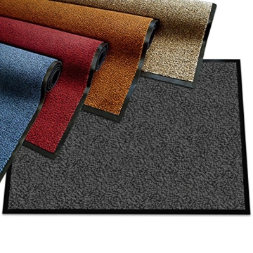 etm® Schmutzfangmatte - Note 1,6: Sieger Preis-Leistung - Fußmatte in vielen Größen und Farben (Ocker-Schwarz, 90x150 cm) -