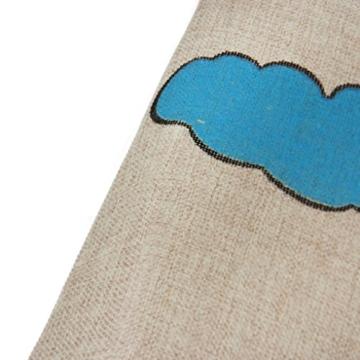FakeFace Verdickte Baumwolle und Leinen Fußmatte Fußabtreter Schmutzfangmatte Türmatte Türabstreifer Schmutzmatte Teppich Fußabstreifer Anti Rutsch für Schlafzimmer Wohnzimmer Küche Beistelltisch 60 x 40 CM (Schöner Tag) -