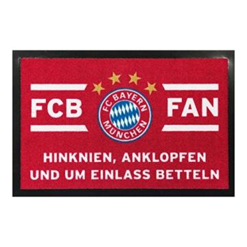 """FC Bayern Fußmatte FCB FAN """"Hinknien...) 20672 -"""