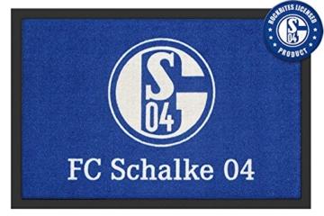 FC SCHALKE 04 Fußmatte Logo 60x40cm, rutschfeste Unterseite, offiziell lizenziert -
