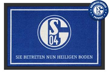 FC SCHALKE 04 Fußmatte - Sie betreten nun heiligen Boden, 60x 40cm, rutschfeste Unterseite, offiziell lizenziert -