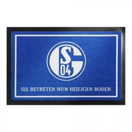 FC SCHALKE 04 S04 FUßMATTE HEILIGER BODEN -