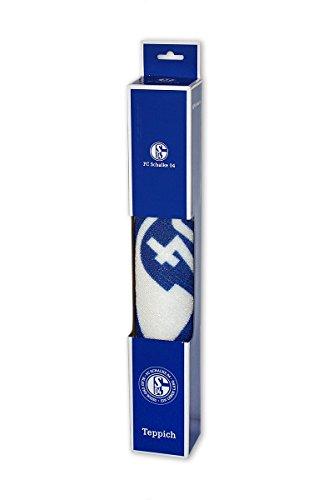 FC Schalke 04 Teppich blau und weiß ein Leben lang - Fußmatte -