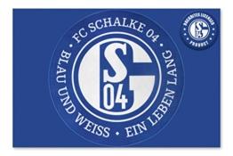 FC Schalke 04 XL Teppich blau und weiß ein Leben lang - Fußmatte -