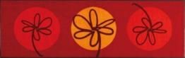 Fußmatte Fleurette rouge 60x180 cm -