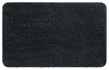 Fußmatte Größe Farbe wählbar, Türvorleger Bodenmatte Schmutzfangmatte Fußabtreter (60 x 100 cm Graphit) -