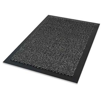 Fussmatte Schmutzfangmatte Fussmatten Schmutzmatte Türmatte waschbar GRAU 90x150cm Schmutzfangläufer Matte -