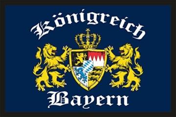 Fußmatte Türmatte Schmutzfangmatte mit Motiv: Freistaat Bayern 213 -