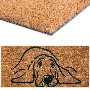 Fußmatte Türvorleger Eingangsmatte Treppe Hausflur 50x25cm Auswahl: Design - Hund -