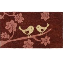 Fußmatte Vogel-Motiv, PVC und Kokosfaser, 40 x 70cm -