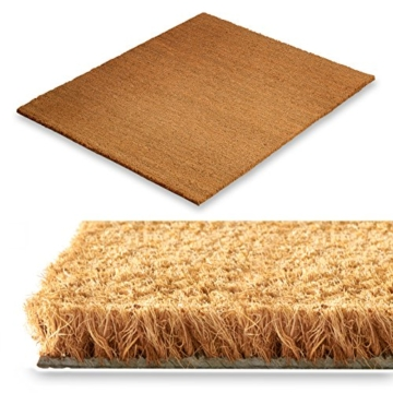 Kokos Fußmatte - Testnote 1,5 - natürlicher Schmutzstopper für Innen- und Aussenbereiche, 17 mm, drei Größen (40x60cm) -