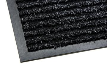 Schmutzfangmatten Außenbereich premium fußmatte schmutzfangmatte multi schwarz 90x150cm extrem