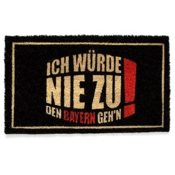 Relaxdays Fußmatte Ich würde nie zu den Bayern gehen - Türvorleger 75x45cm -
