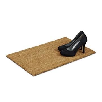Relaxdays Fußmatte Kokos natur 40 x 60 cm Kokosmatte mit rutschfester PVC Unterlage Fußabtreter aus Kokosfaser als Schmutzfangmatte und Sauberlaufmatte Fußabstreifer für Außen und Innen, braun -