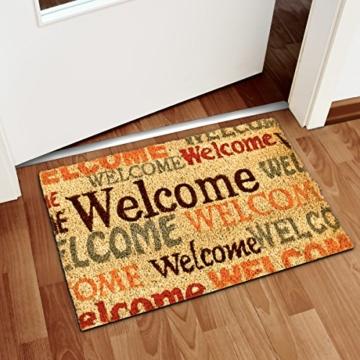 relaxdays fu matte kokos welcome 40 x 60 cm kokosmatte mit rutschfester pvc unterlage. Black Bedroom Furniture Sets. Home Design Ideas
