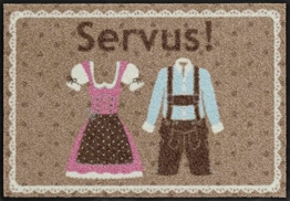 Salonloewe Fußmatte waschbar Message on a mat Servus Bayern 50x75 cm SLD1158-050x075 -