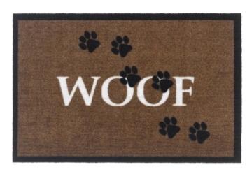 Schmutzfangmatte / Fußmatte / Fussmatte / Fußabstreifer / Fußabtreter / Schmutzmatte Hund WOOF -