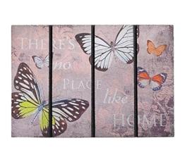 Schmutzfangmatte / Fußmatte / Fussmatte / Fußabstreifer / Fußabtreter / Schmutzmatte Modell Butterfly - Schmetterlinge - witzig lustig 3D 3 D Optik Größe ca. 40 x 60 cm / Ecomat-Fußmatte / sehr hochwertige Fußmatte -