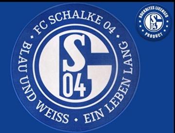 Teppich /FUßMATTE FC SCHALKE 04 BLAU UND WEIß EIN LEBEN LANG 50 CM -