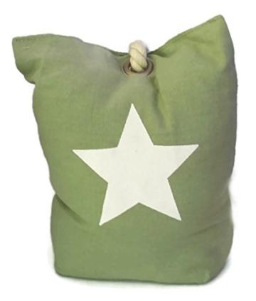 Bada Bing Türstopper Stern Seil Sack Stopper Türsack Türdämpfer Vintage (mint grün) -