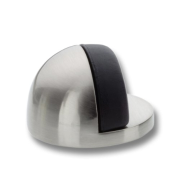 BURG-WÄCHTER Design-Türstopper, Höhe: 25 mm, Durchmesser: 45 mm, Inkl. Befestigungsmaterial, TSB 2140 Ni SB, Edelstahl-Optik -