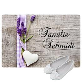 Geschenke 24: Personalisierte Fußmatte Landhaus - Fußmatten mit Namen bedrucken - schönes Geschenk für die ganze Familie -