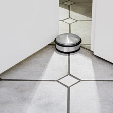 KROLLMANN Türstopper Sets Türpuffer Tür-Stopper Halter Puffer Edelstahl-Design Hoch oder Niedrig (Niedrig 4 Stueck) -