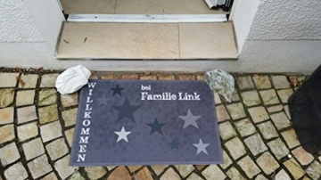 Lieferung 1-3Tage bei Eule Design*Fußmatte Sterne grau 60x40* -
