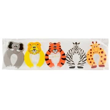 SmileBaby Türstopper Finger Klemmschutz Türstop Safari 5 Stück -